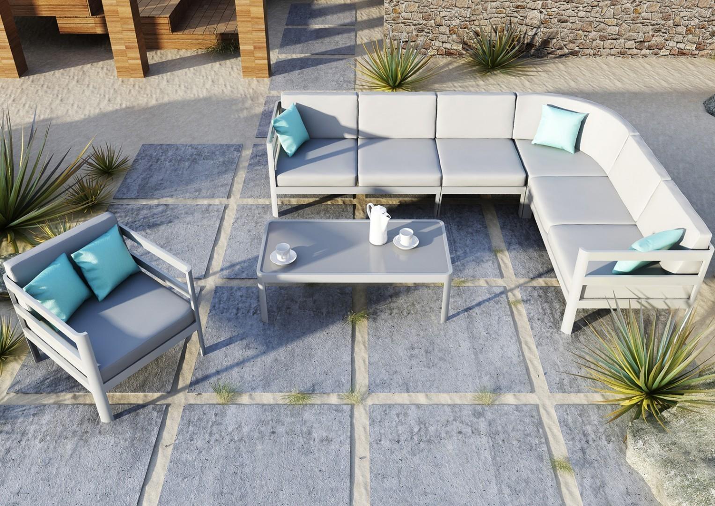 Meble ogrodowe aluminiowe