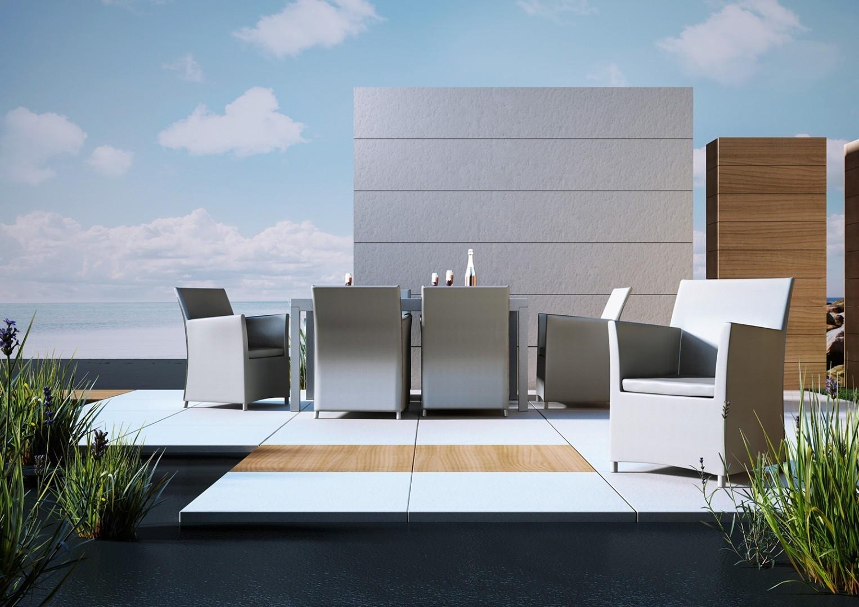 Na zdjęciu stoły na taras