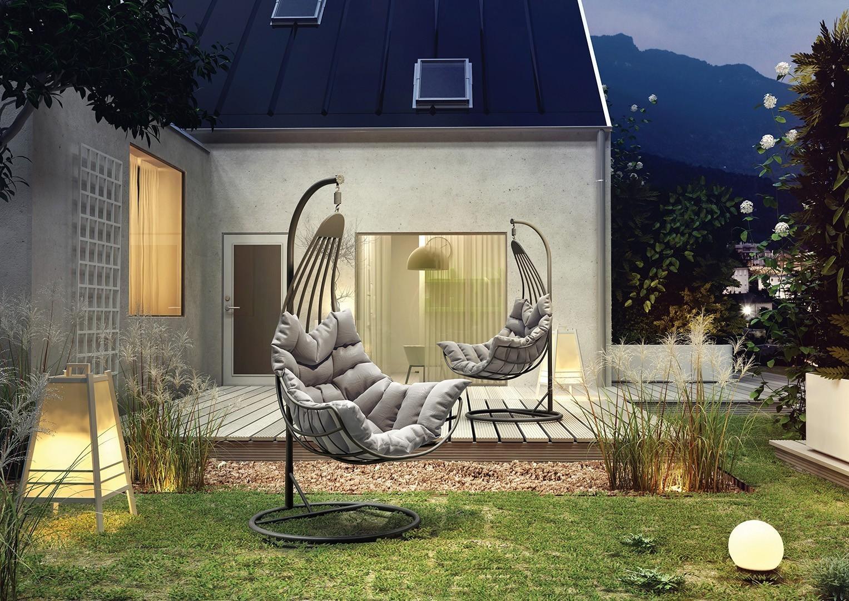 Metalowe huśtawki ogrodowe