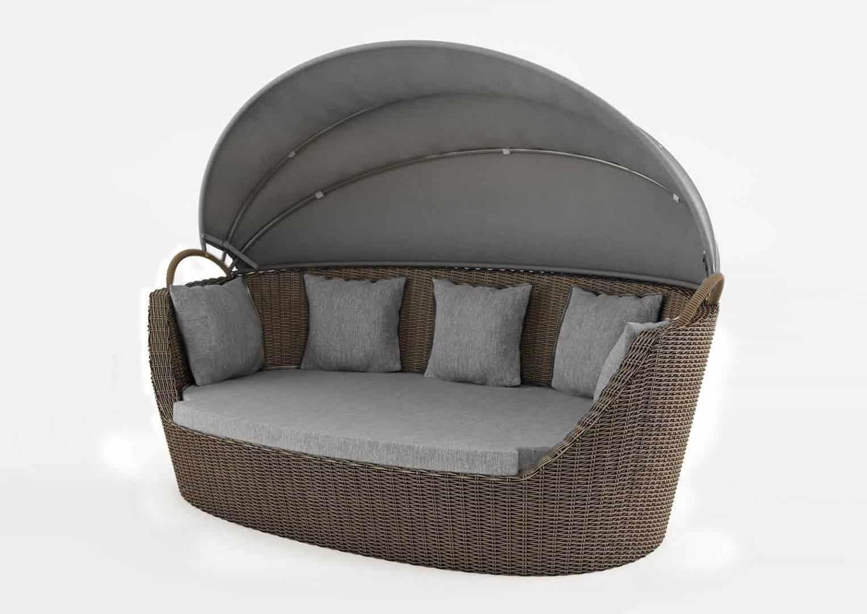 łóżko ogrodowe z baldachimem PORTOFINO