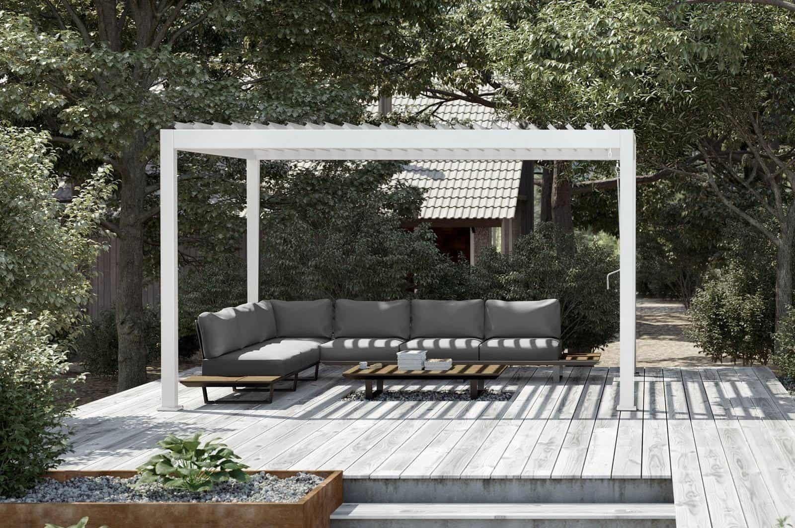 Nowoczesna pergola metalowa – odpoczywaj komfortowo blisko natury