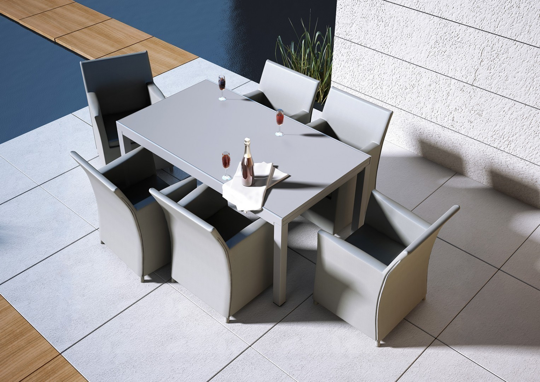 meble na taras metalowe stół aluminiowy Toledo