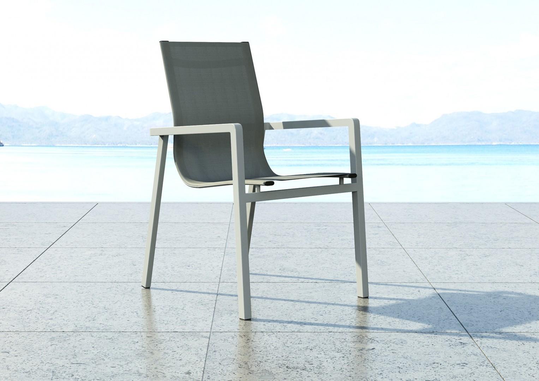 nowoczesne tarasy krzesło aluminiowe Alicante