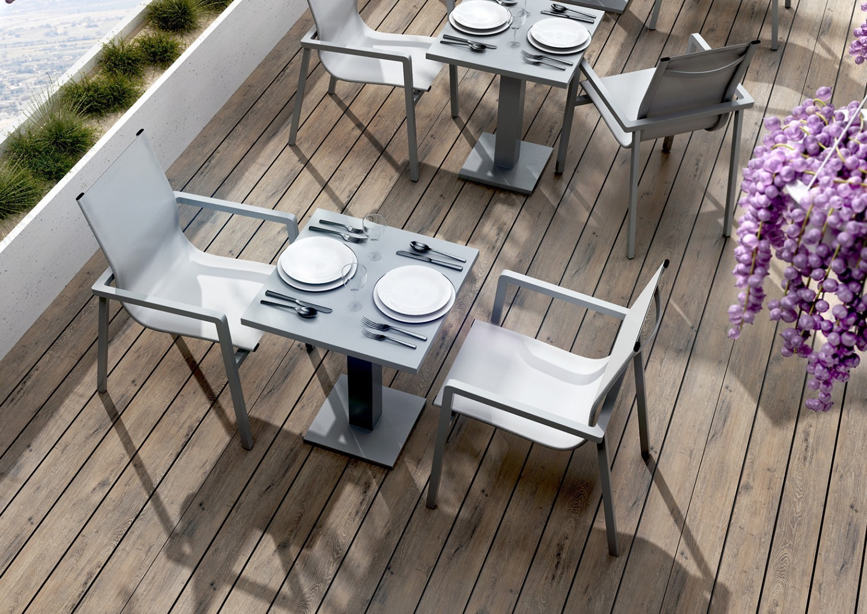 nowoczesne tarasy stół aluminiowy Vigo
