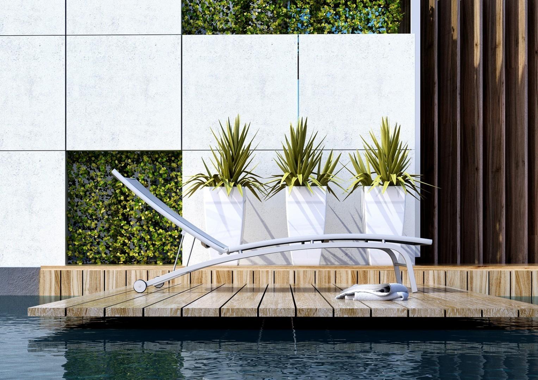 meble ogrodowe balkonowe leżanka Sevilla