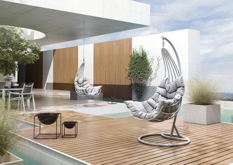 Wiszący fotel ogrodowy z aluminium MALAGA