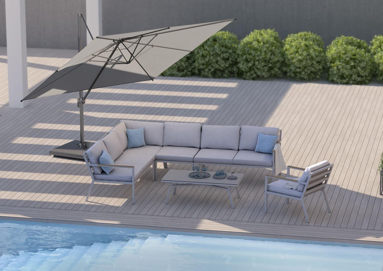 nowoczesne meble ogrodowe zestaw Lugo