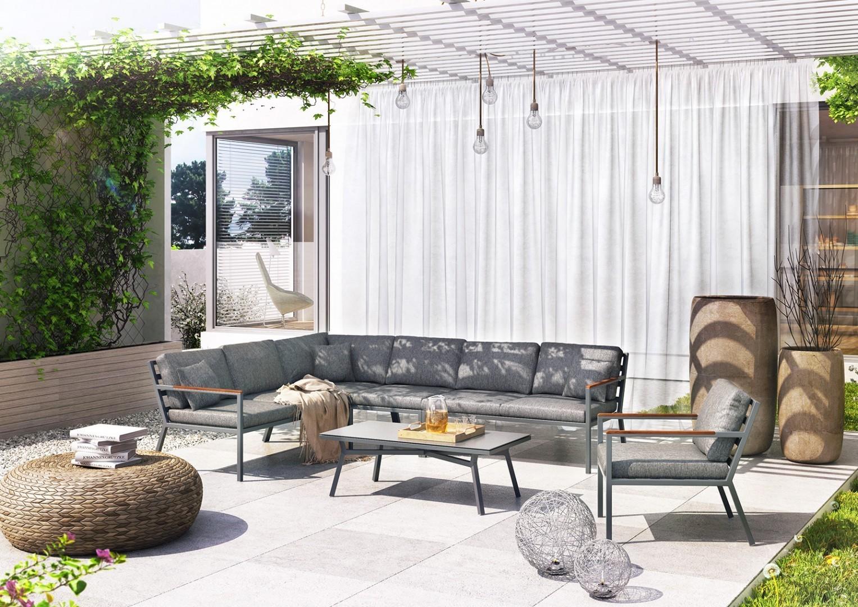 nowoczesne tarasy ogrodowe - zestaw LUGO