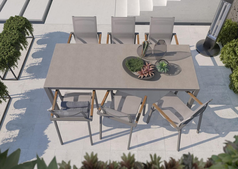 nowoczesne meble ogrodowe stół Oviedo
