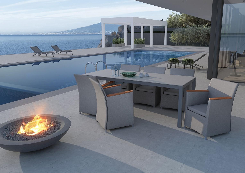 nowoczesne meble ogrodowe fotel Merida