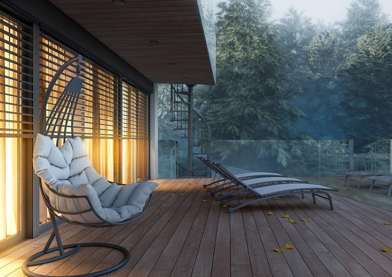 nowoczesne meble ogrodowe fotel wiszący Malaga