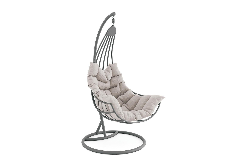 Wiszący fotel ogrodowy z aluminium MALAGA  STONE&WOOD
