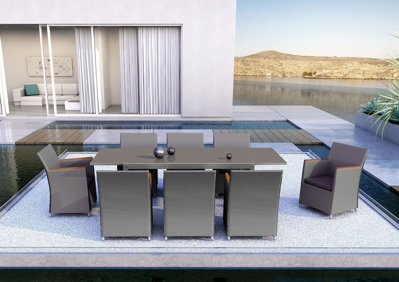 meble tarasowe ekskluzywne stół Toledo