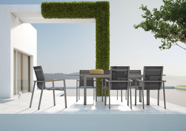 Stół aluminiowy TOLEDO STONE&WOOD