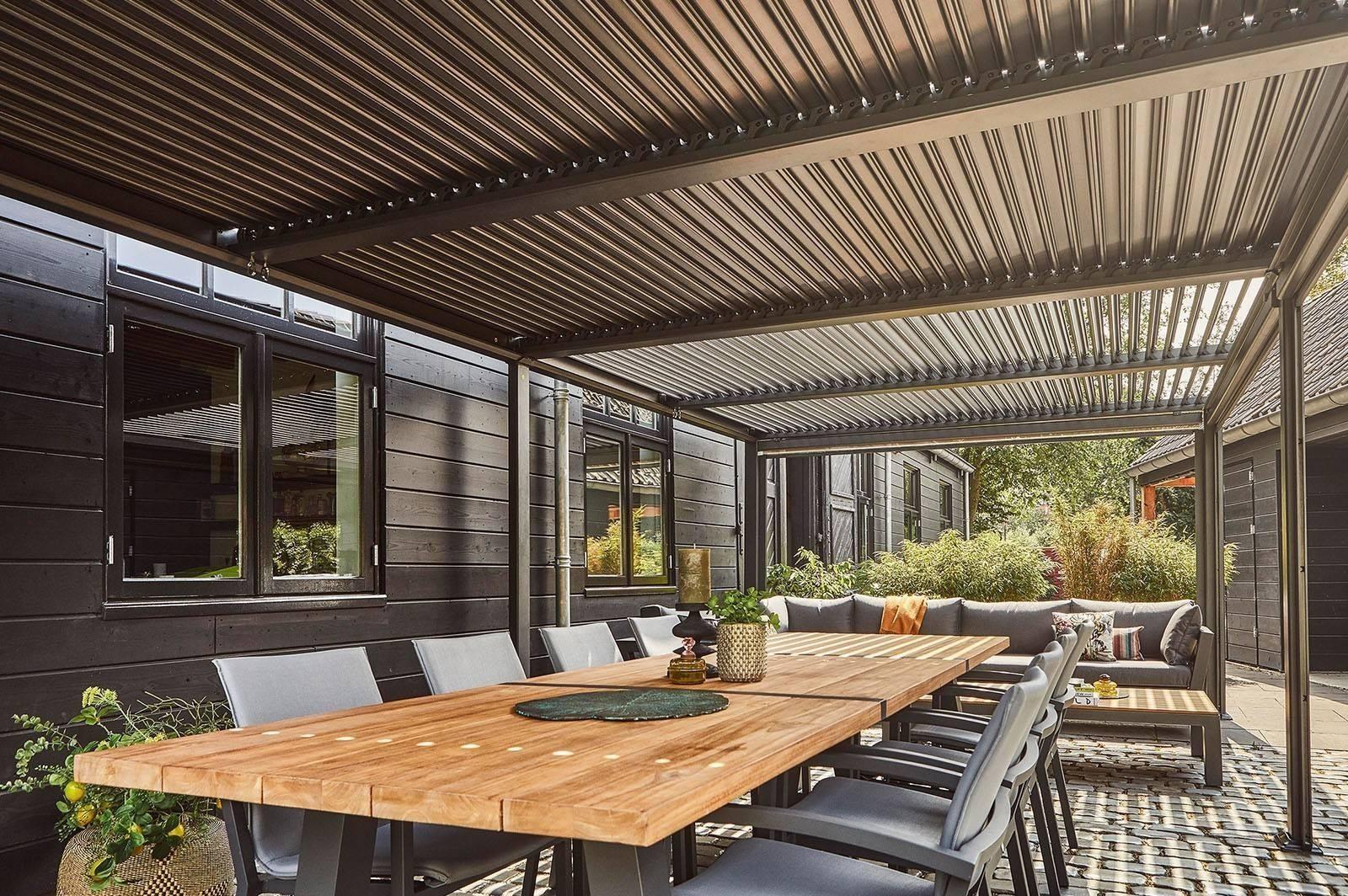 nowoczesne tarasy ogrodowe - zadaszenie MARANZA