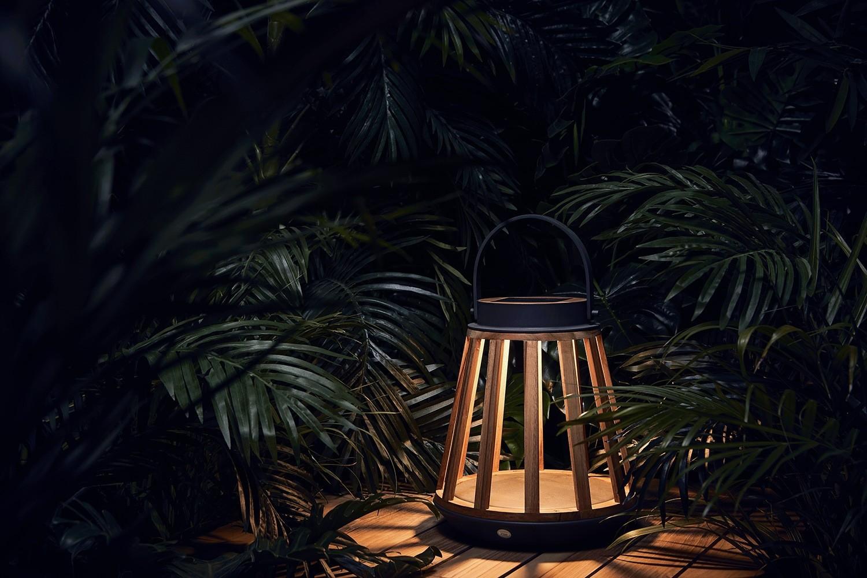 Lampa solarna KATE teak